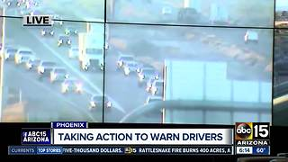 Dusty weather creating difficult driving conditions - Video