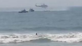 Two Rescued After Helicopter Lands in Ocean Near Long Island - Video