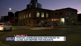 Pontiac homeless shelter forced to close just before the holidays