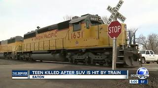 Eaton High School student killed when SUV hit by train at same crossing where teen died in 2017 - Video