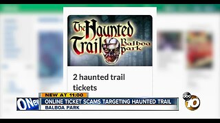 Haunted Trail visitors being targeted by ticket scammers