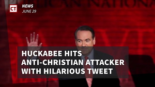 Huckabee Hits Anti-christian Attacker With Hilarious Tweet - Video