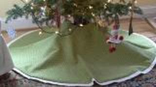 Easy Custom Christmas Tree Skirt - Video