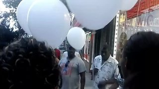 Protesters Release Balloons To Mark Third Anniversary of Eric Garner's Death - Video