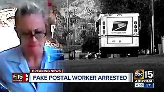 Woman posing as mail carrier arrested - Video