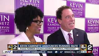 Gubernatorial candidate Kevin Kamenetz announces Valerie Ervin as his running mate - Video
