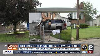 Car crashes through home in Riviera Beach, driver hurt - Video