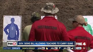Florida Governor Desantis signs bill to allow teachers to be armed