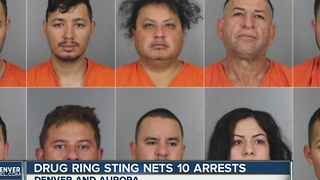 Drug ring sting nets 10 arrests - Video
