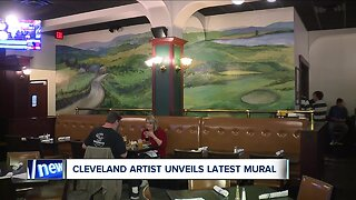 Award-winning artist returns to her roots to create mural at Flannery's Pub