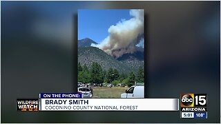 Museum Fire burning north of Flagstaff