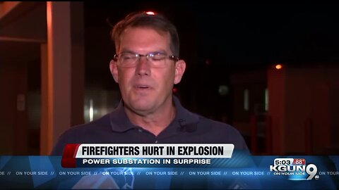 Firefighters hurt in explosion