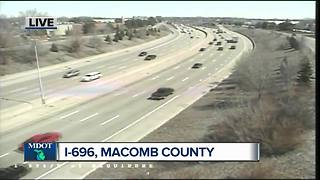 I-696 closing in Macomb County to begin Friday April 27 - Video