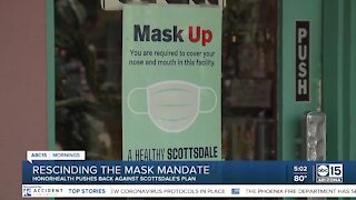 Scottsdale rescinds mask mandate