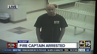 Fire captain arrested for sexual misconduct with a minor