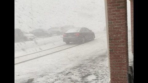 Snowstorm Brings Near-Whiteout Conditions to Fairfield
