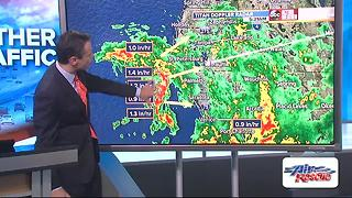Low pressure west of Tampa is now Tripical Depression Six - Video