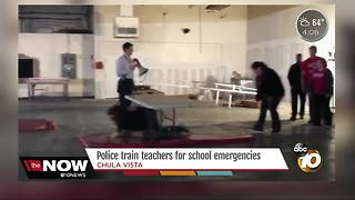 Police train teachers for school emergencies - Video