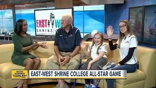 East-West Shrine Game spotlights star athletes, highlights charity - Video
