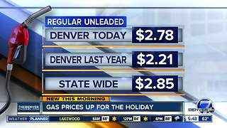 Gas prices up for holiday