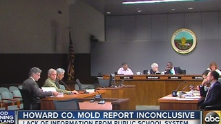 Howard County mold report found inconclusive - Video