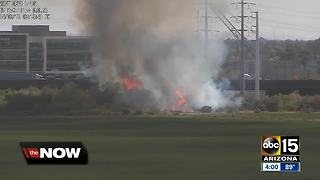Brush fire sparks near Loop 202 and McKellips Road - Video