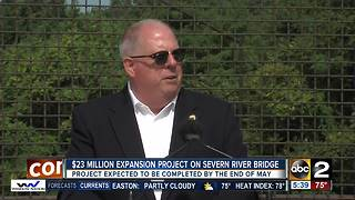 Hogan announces bridge expansion for Severn River Bridge - Video
