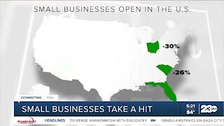 Small businesses take a hit