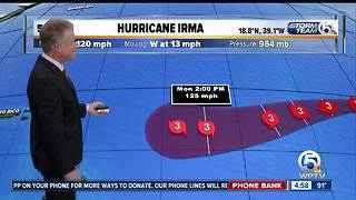 Hurricane Irma back up to Category 3 with 120 mph winds - Video