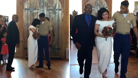 Deployment doesn't stop man from attending his sister's wedding