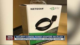 Security camera power adapters recalled - Video