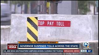 Tolls suspended in Florida ahead of Irma - Video