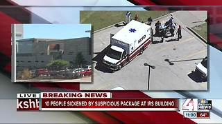 Suspicious package sickens 10 people at IRS building, officials report - Video