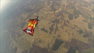 Epic wingsuit skydiving session