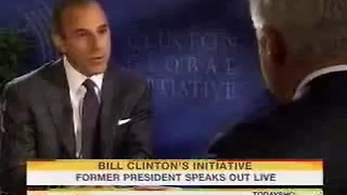 Bill Clinton Talks to Matt Lauer About Ahmadinejad - Video