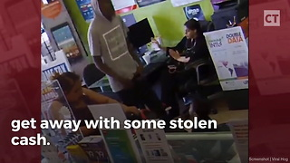 """""""Tough"""" Armed Robber Brought to Tears After 3 Women Outsmart Him - Video"""