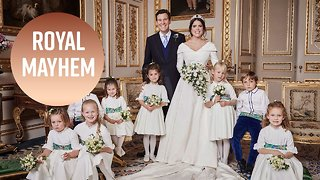 Royal kids steal Princess Eugenie's thunder in wedding portrait