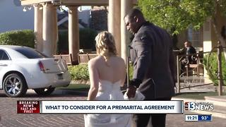 Attorney Brian Eagan discusses what to consider for a premarital agreement - Video