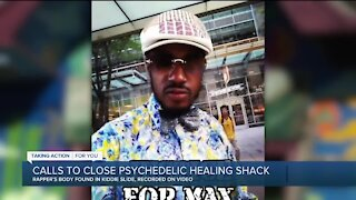 Calls to close Psychedelic Healing Shack after rapper's body found in kiddie slide