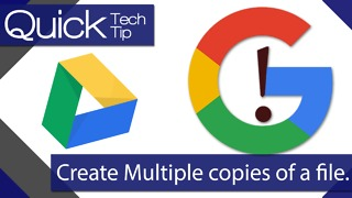How To Create Multiple Copies of a File in Google Drive - Video