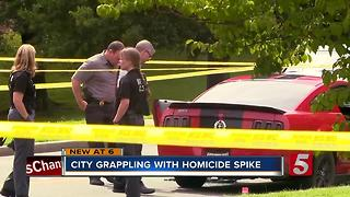 City Grapples With Spike In Homicides - Video