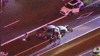 Seven car crash at Loop 101 and Southern - Video