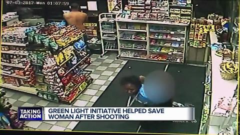 Friend helps woman who was shot after she came to gas station