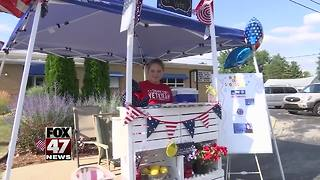 Girl helps veterans with Lemonade stand