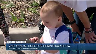 Fundraiser 'Hope For Hearts Car Show' helping a three-year-old fighting kidney failure
