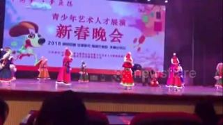 Toddler falls asleep twice on stage during New Year show rehearsals - Video