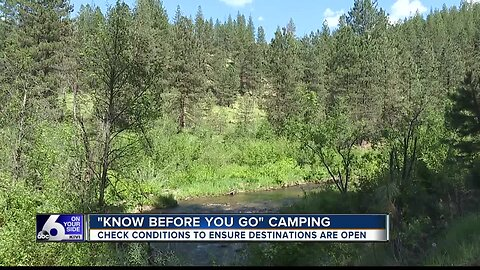 Check your camping spot before you head out for Memorial Day