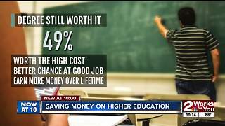 Saving money on higher education - Video