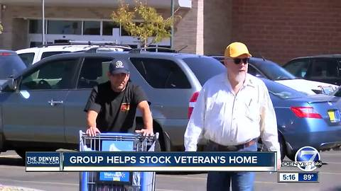 Vet gets home, shopping spree in one day