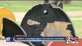 Parents concerned about Tulsa playground equipment - Video